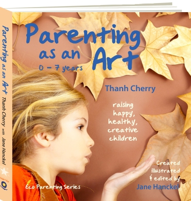 Parenting as an Art 3D book transparent